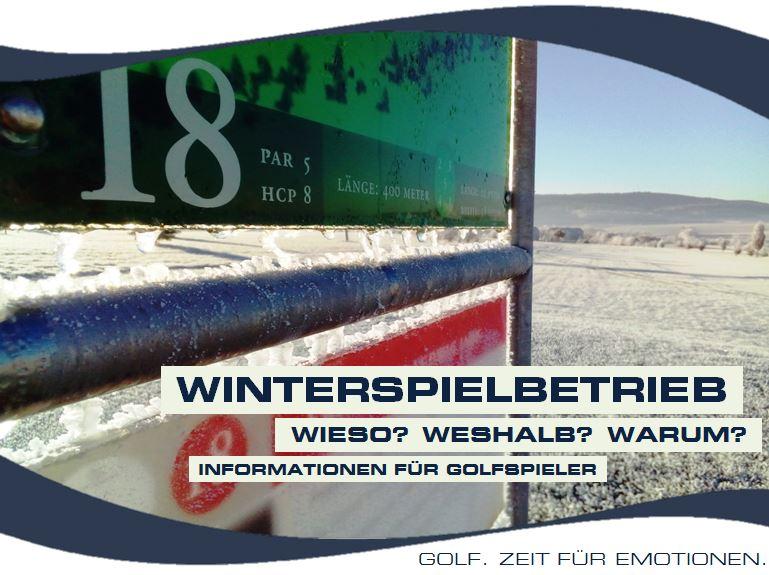 WINTERSPIELBETRIEB – DAS IST ZU BEACHTEN!