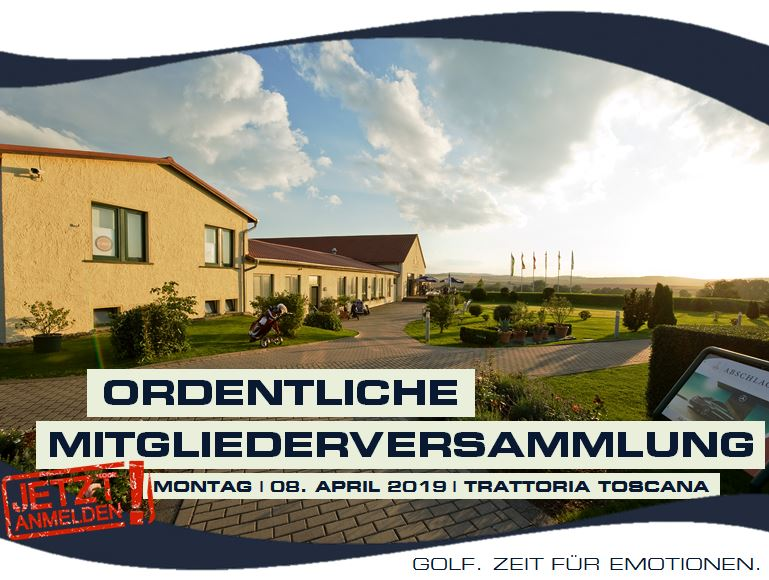 ORDENTLICHE MITGLIEDERVERSAMMLUNG 2019