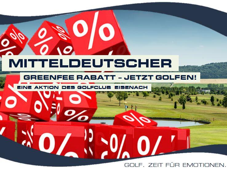 MITTELDEUTSCHER GREENFEE-RABATT – 30% – JETZT GOLFSPIELEN!